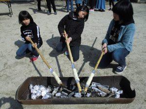 2/23竹パン作り&焼芋